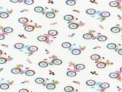 Timeless Treasures Tossed Bicycles Poplin Quilting Fabric