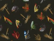 Timeless Treasures Fish Lures Poplin Quilting Fabric
