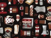Timeless Treasures Mini Coffee Motifs Poplin Quilting Fabric