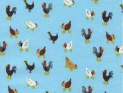 Timeless Treasures Mini Chickens Poplin Quilting Fabric