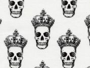 Timeless Treasures Crowned Skulls Poplin Quilting Fabric