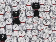 Timeless Treasures Cats Poplin Quilting Fabric