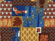 Timeless Treasures Nightime Woodland Poplin Quilting Fabric