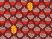 Timeless Treasures Acorns & Leaves Poplin Quilting Fabric