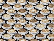 Timeless Treasures Latte Art Poplin Quilting Fabric