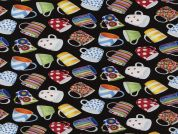 Timeless Treasures Coffee Mugs Poplin Quilting Fabric