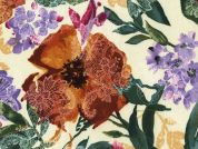 Timeless Treasures Watercolour Floral With Lace Poplin Quilting Fabric
