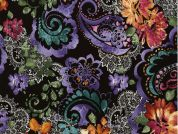 Timeless Treasures Paisley With Lace Poplin Quilting Fabric