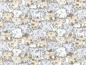 Timeless Treasures Kittens Poplin Quilting Fabric