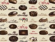 Timeless Treasures Les Chocolats Poplin Quilting Fabric