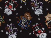 Timeless Treasures X-Ray Kitties Quilting Fabric