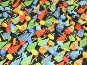 Timeless Treasures Cats Quilting Fabric