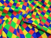 Harlequin Diamonds Cotton Drill Fabric  Multicoloured