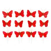 Butterfly Embellishments  Red
