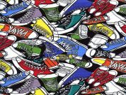Timeless Treasures Sneakers Poplin Quilting Fabric