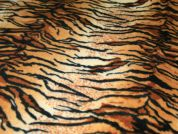 Tiger Print Anti Pill Polar Fleece Fabric  Brown