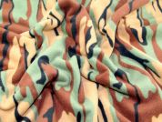 Camouflage Print Anti Pill Polar Fleece Fabric  Jungle Green