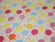 Balloons Print Polycotton Dress Fabric  Multicoloured
