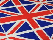 Union Jack Cotton Flag Fabric  Red, Royal Blue & White