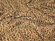 Mini Leopard Print Anti Pill Polar Fleece Fabric  Brown