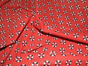 Liferings Print Polycotton Dress Fabric  Red