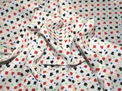 Card Suits Print Polycotton Dress Fabric  Multicoloured