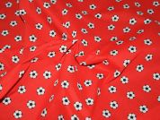Footballs Print Polycotton Dress Fabric