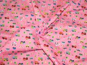 Cars & Vehicles Print Polycotton Dress Fabric