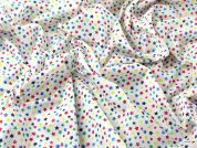 Stars Print Polycotton Dress Fabric  Multicoloured