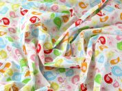 Birds Print Polycotton Dress Fabric  Multicoloured