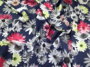Floral Print Stretch Chambray Denim Dress Fabric  Multicoloured