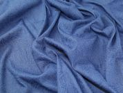 Embossed Design Stretch Denim Dress Fabric  Blue