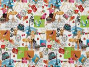 Timeless Treasures Jadore Paris Poplin Quilting Fabric