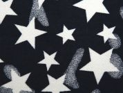 Star Brushed Stretch Cotton Twill Dress Fabric  Navy Blue