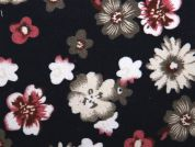 Floral Brushed Stretch Cotton Twill Dress Fabric  Multicoloured