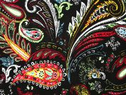 Paisley Print Viscose Challis Dress Fabric  Multicoloured
