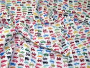 Cars Polycotton Fabric  Multicoloured