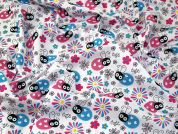 Bees & Flowers Polycotton Fabric  Multicoloured