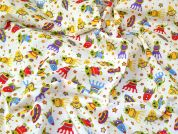 Aliens Polycotton Fabric  Multicoloured