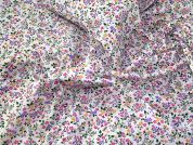 Floral Polycotton Fabric  Multicoloured