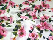 Linen Look Crepe Fabric  Pink