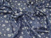 Floral Chambray Denim Fabric