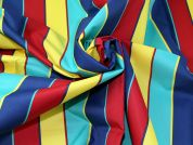Stripe Water Repellent Fabric  Multicoloured