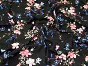 Viscose Challis Fabric  Black