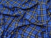 Check Suiting Fabric  Royal Blue
