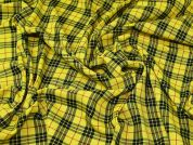 Check Suiting Fabric  Yellow