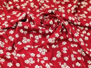 Floral Viscose Twill Fabric