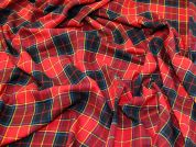 Check Brushed Cotton Fabric  Red
