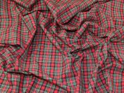 Cotton Check Fabric  Red & Green