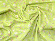 Cotton Flannel Fabric  Lime Green